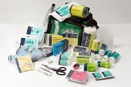 First aid bag including airways kit